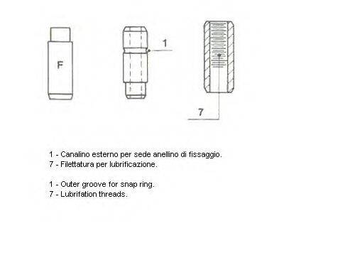 Направляющая втулка клапана METELLI 01-1369