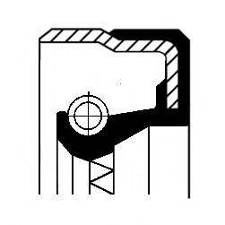 Уплотняющее кольцо, ступица колеса CORTECO 01016959B