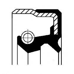 Уплотняющее кольцо вала, автоматическая коробка передач CORTECO 01029717B