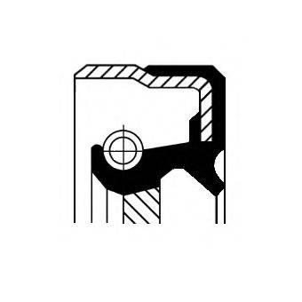 Уплотняющее кольцо, ступенчатая коробка передач; Уплотняющее кольцо вала, автоматическая коробка передач; Уплотняющее кольцо, дифференциал CORTECO 01030363B