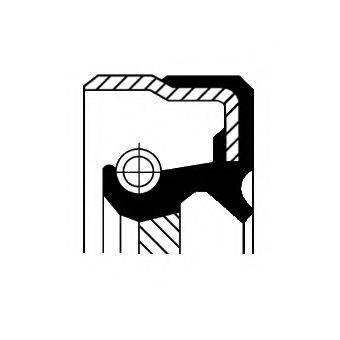 Уплотняющее кольцо, ступенчатая коробка передач CORTECO 01033293B