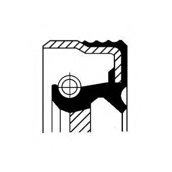 Уплотняющее кольцо, коленчатый вал; Уплотняющее кольцо вала, масляный насос CORTECO 01027762B