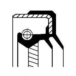 Уплотняющее кольцо, дифференциал; Уплотняющее кольцо, ступица колеса CORTECO 01034446B