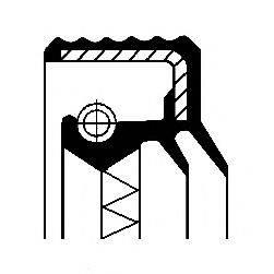 Уплотняющее кольцо, ступица колеса CORTECO 01016684B