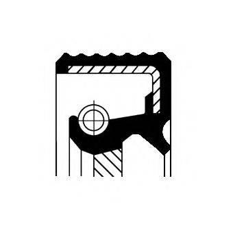 Уплотняющее кольцо вала, автоматическая коробка передач CORTECO 01033878B