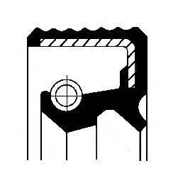 Уплотняющее кольцо, дифференциал; Уплотняющее кольцо, ступица колеса CORTECO 01029158B