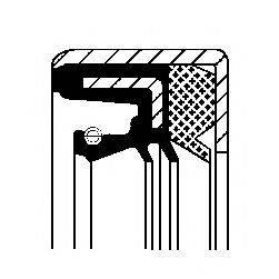 Уплотняющее кольцо, ступенчатая коробка передач; Уплотняющее кольцо, дифференциал CORTECO 01029619B