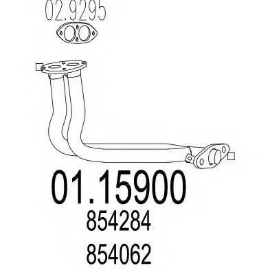 Труба выхлопного газа MTS 01.15900