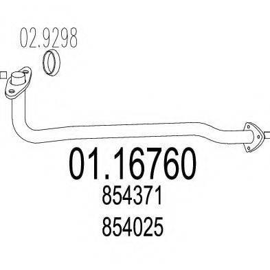 Труба выхлопного газа MTS 01.16760