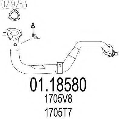 Труба выхлопного газа MTS 01.18580