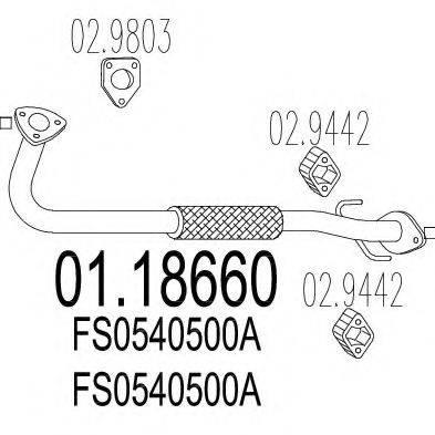 Труба выхлопного газа MTS 01.18660