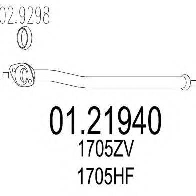 Труба выхлопного газа MTS 01.21940
