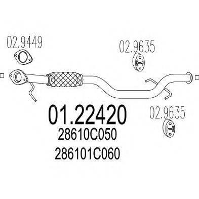 Труба выхлопного газа MTS 01.22420