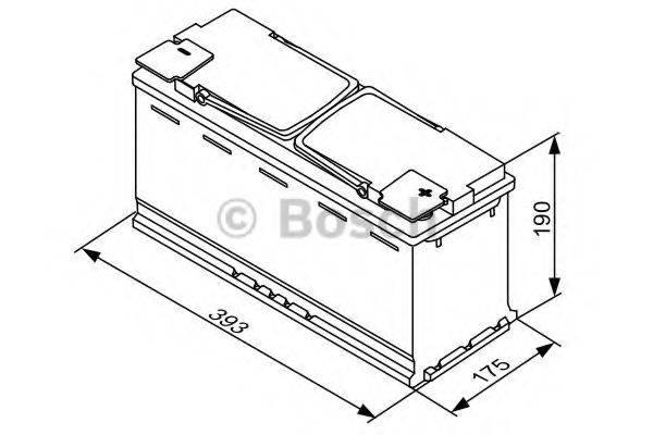 Стартерная аккумуляторная батарея; Стартерная аккумуляторная батарея BOSCH 0 092 S5A 150
