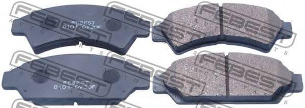 Комплект тормозных колодок, дисковый тормоз FEBEST 0101-CV30F