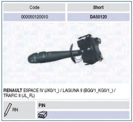 Выключатель на колонке рулевого управления MAGNETI MARELLI 000050120010