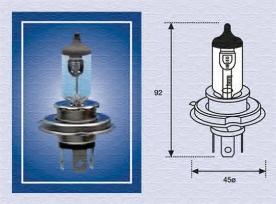 Лампа накаливания, фара дальнего света; Лампа накаливания, основная фара; Лампа накаливания MAGNETI MARELLI 002156100000