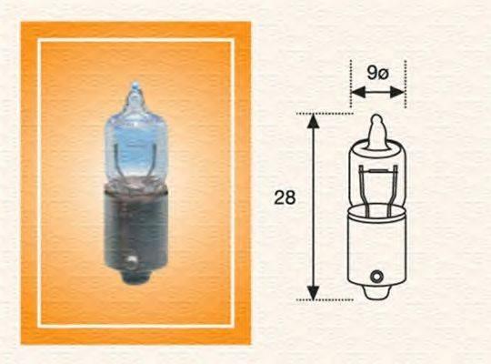 Лампа накаливания, задний гарабитный огонь; Лампа накаливания, oсвещение салона; Лампа накаливания, стояночные огни / габаритные фонари; Лампа накаливания MAGNETI MARELLI 002701100000