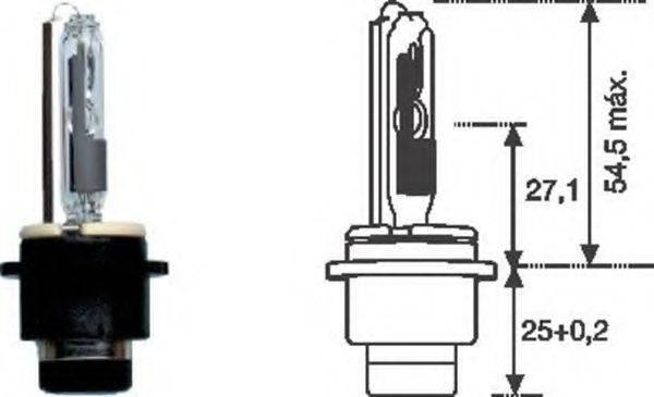 Лампа накаливания, фара дальнего света; Лампа накаливания, основная фара; Лампа накаливания MAGNETI MARELLI 002542100000