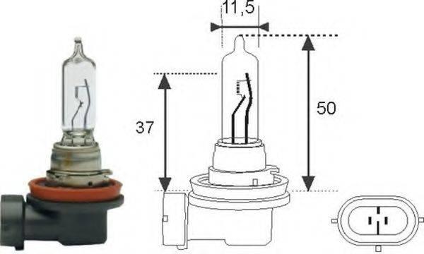 Лампа накаливания, фара дальнего света; Лампа накаливания, основная фара; Лампа накаливания MAGNETI MARELLI 002548100000