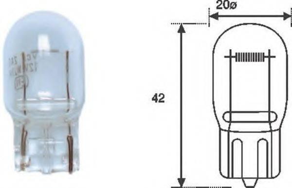 Лампа накаливания, задний гарабитный огонь; Лампа накаливания, освещение щитка приборов; Лампа накаливания MAGNETI MARELLI 002052200000